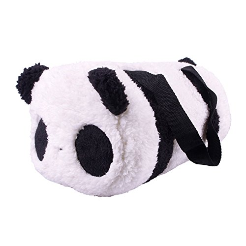 Large Cute Soft Plush Panda Cylindrical Handbag Travel Storage Shoulder Baby Bag by KeyZone
