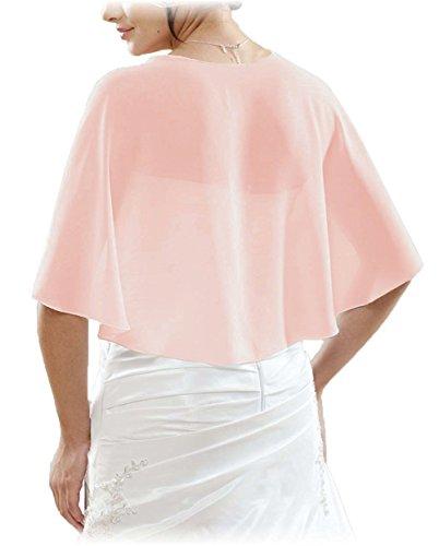 Lafee Bridal Chiffon Bridal Evening Scarves Wraps Shawls for Bridesmaid Prom Wedding XL Blush - Chiffon Sheer Blush