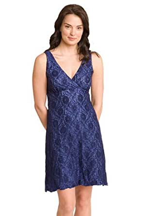 The Lace Sleepy Dress in Blue Lace - S