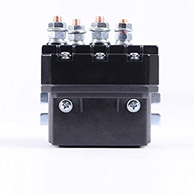 AIU TOP Winch Relay ATV/UTV Replacement Contactor/Solenoid 250A 12V DC 1500lbs-5000lbs Switch, 4 Terminal
