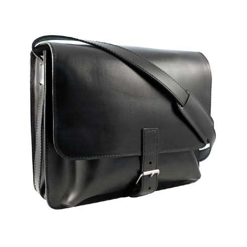 Jumbo Posttasche Leder Messenger Bag / Lehrertasche v. Shalimar Brown