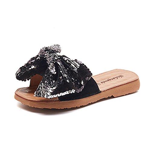 in piatto Thirty sono pantofole five moda yalanshop paillettes fondo Drag morbido fondo papillon outdoor con alla 4aF6xq