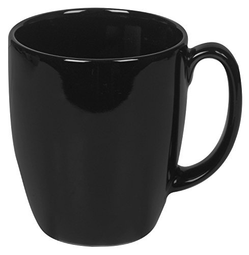 Corelle Livingware 11-Ounce Mug, Black (Pack of 6) (Corelle Cups Mugs compare prices)