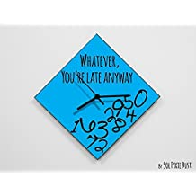 Whatever, You're Late Anyway / Polygon Blue - Wall Clock