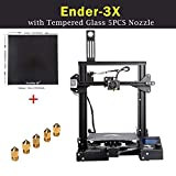 Creality Upgraded Ender-3X 3D Printer with Tempered Glass 5PCS Nozzle with Resume Printing Function for School