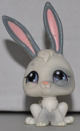 Rabbit #18 (White/Grey, magnet in nose) Littlest Pet