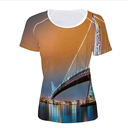 Discount Women' -Shirt,Bridge Philadelphia Skyline Viewed from Camden,Pictures Print
