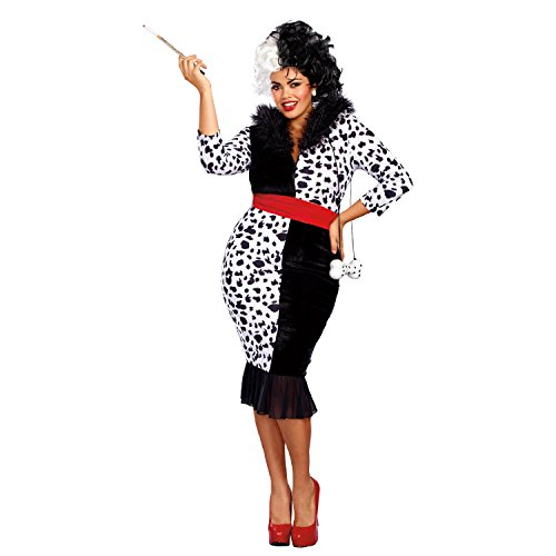 Dreamgirl Women's Plus Size Dalmatian Diva, Black/White, -