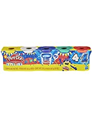 Play-Doh Sapphire Celebration 5-Pack of Modeling Compound for Kids 3 Years and Up Including Blue Sapphire Sparkle, Green, Red, White, and Yellow, Non-Toxic