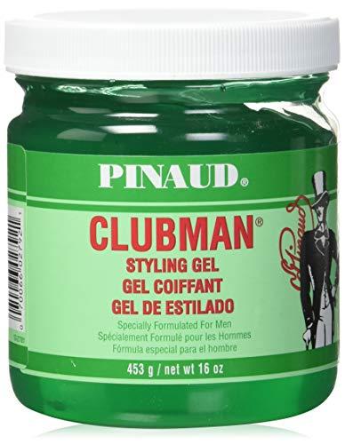 Clubman Pinaud Styling Gel Regular Hold 16.0 oz (Best Drugstore Hair Gel)