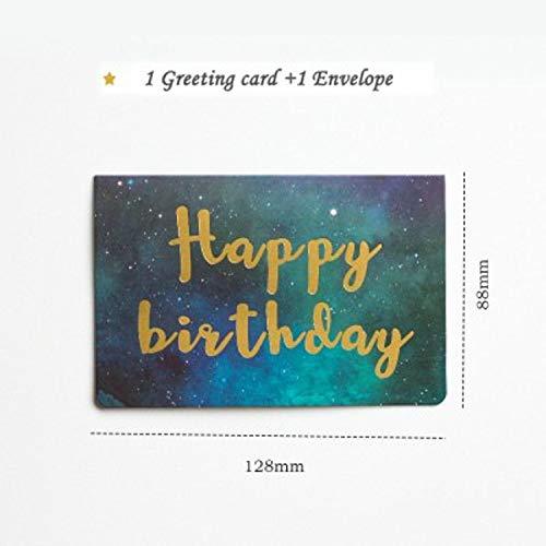 Crane Paper Wedding Invitations - CHITOP [1pcs] Creative Bronzing word Star universe greeting card - Wedding Invitation - Thanksgiving Card - Galaxy Color Card (Happy Birthday)