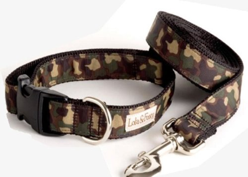 "Lola & Foxy Camo Dog Leash, 1"" Wide, 5ft. Long"