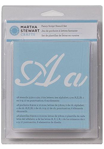 Martha Stewart Crafts Alphabet Stencil, 32275 - Fancy Fonts Letter