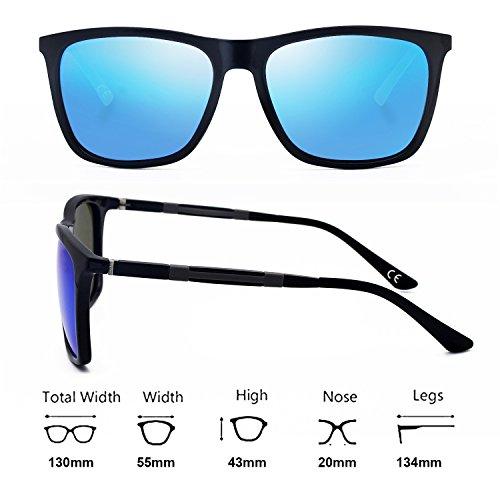 Blue Black Bright Gafas para Hombres Sol UV BE002 BLEVET Mujeres Polarizadas de para Protección Lens Deportes Conducir xZnqwd6p