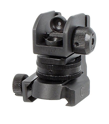 A2 Rear Sight (UTG Mil-Spec Sub-compact Rear Sight w/Full W/E Adjustment)
