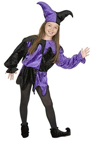 Black and Purple Jester Kids Costume ()