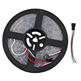 5M WS2811 5050SMD 12V LED Strip Light DIY Decoration Household Hotel Club(Color:Black)