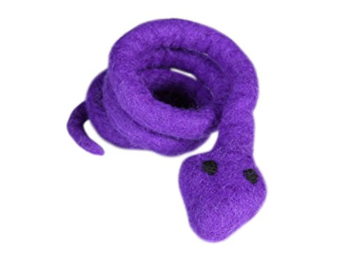 (RC Pet Toys Wooly Wonkz Safari Toy, 100% New Zealand Wool, Fun Interactive Cat and Small Dog Toy, Snake)