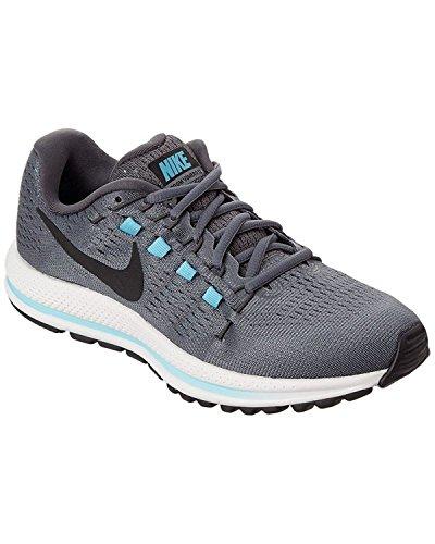 Nike Womens Air Zoom Vomero 12 Scarpa Da Corsa, Grigio Freddo Grigio / Nero-grigio Scuro-blu Ghiacciaio