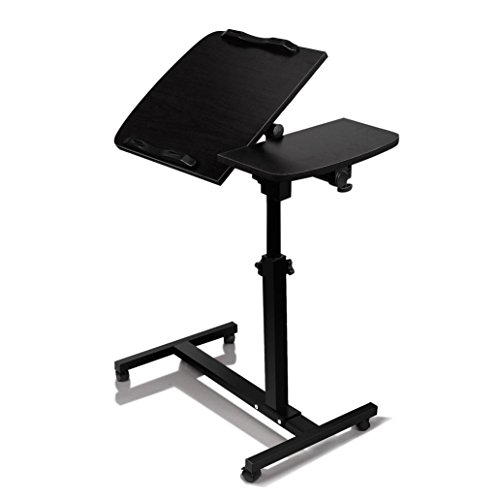 Sinma Mobile Laptop Desk, Sit-Stand Portable Adjustable Angle Laptop Desk Durable & Ergonomic Design Computer Tables with Side Table (Black) by Sinma