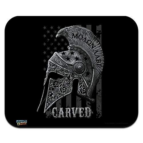 - Carved Molon Labe USA American Flag Spartan Helmet 2nd Amendment Low Profile Thin Mouse Pad Mousepad