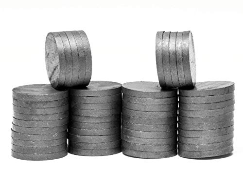 Ceramic Quarter Round - Quarter Sized, 1-inch Round Ceramic Disc Ferrite Magnets: 1