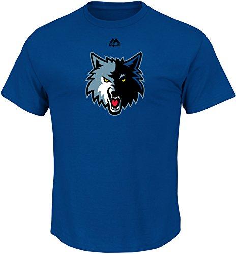 fan products of NBA Minnesota Timberwolves Men's Logo II Short Sleeve Basic Tee, X-Large, Stadium Blue