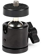 "Yunir Mini Ball Head 360 ° Mini Ball Head Bracket Mount, voor 1/4 ""Camera Statief & 3/8"" Flash Houder"