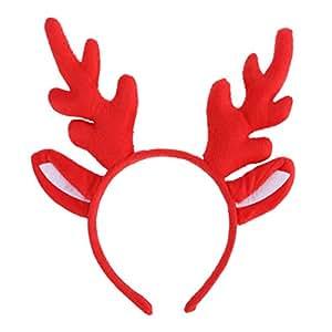 BESTOYARD Reno de Pelo de asta de aro de Navidad y Fiesta de Fiesta Diadema Reno de asta de Pelo de aro de Sombreros para niños Fiesta de Disfraces Adultos