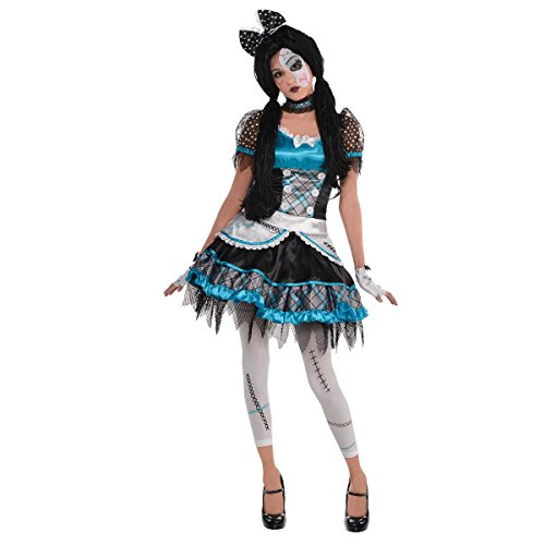 [Teen Girl's Damaged Shattered Doll Fancy Dress Party Halloween Costume (Age 11-13)] (Ages 11-12 Halloween Costumes)