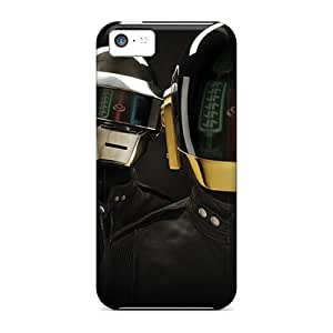 Anti-Scratch Hard Cell-phone Cases For Iphone 5c With Unique Design Beautiful Daft Punk Band Series NataliaKrause