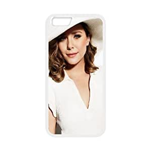 Celebrities Elizabeth Olsen In White Dress iPhone 6 4.7 Inch Cell Phone Case White DIY Present pjz003_6622126
