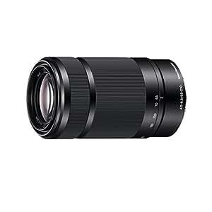 Sony E 55-210mm f/4.5-6.3 Tele - Objetivo para Sony (distancia focal 55-210mm, apertura f/4.5-32, zoom óptico 3.81x,estabilizador óptico, diámetro: 49mm) negro