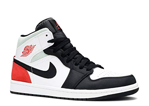 Nike Air Jordan 1 Mid 'Black Toe Union' Grade School Sneakers BQ6931-100