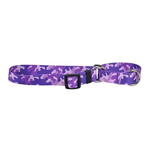 Yellow Dog Design Camo Purple Martingale Dog Collar 1