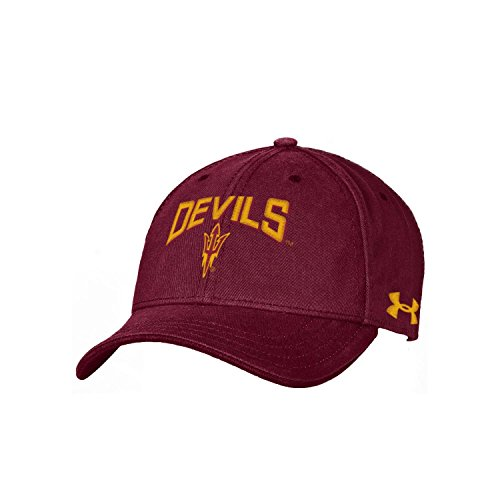NCAA Arizona State Sun Devils Youth Garment Washed Cotton Adjustable Hat, Maroon, One Size