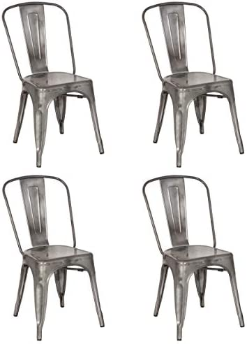 MILAN Inez Set of 4 Steel Side Chair