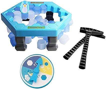 SODIAL Rompecabezas Trampa de pinguino de Mesa Activar Juego Divertido Trampa de pinguino de Mesa de interrupcion de Hielo interactiva Juguete de Entretenimiento para ninos Familiar Juego: Amazon.es: Juguetes y juegos