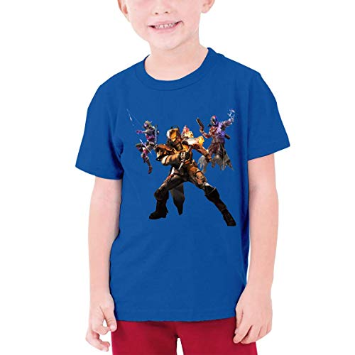 YXQMY Children's T-Shirt, Destiny Pattern Shirt Short Sleeve Cotton Graphic Tee for Girls Boys Kids Blue -