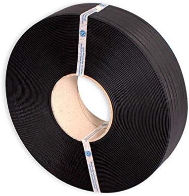 1 Bobina Fleje plástico Negro. Plástico reciclado de color Negro. Medidas bobina 1200 metros lineales.Medidas Fleje: 13 x 0,8mm.