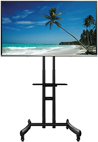 71'' Tallest Mobile TV AV Cart Stand for LCD LED Plasma Flat Panel 32'' to 70'' by Peacemounts