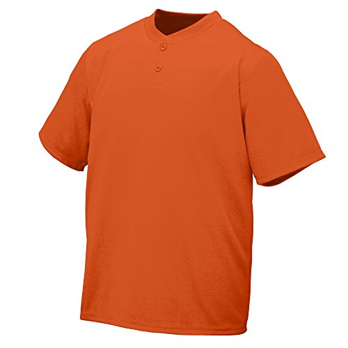 Augusta Sportswear WICKING TWO-BUTTON JERSEY L Orange Two Button Jersey