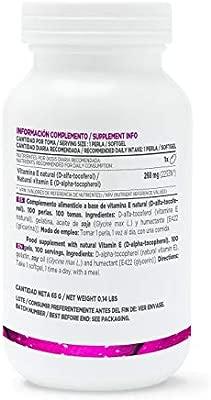 Vitamina E de HSN Essentials | 400IU D-Alfa-Tocoferol ...