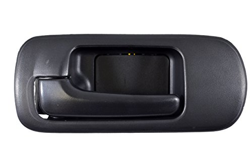 PT Auto Warehouse HO-2572A-FLK - Inside Interior Inner Door Handle, Black - 4-Door Sedan, without Lock Hole, Driver Side Front