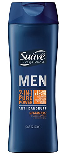 Suave 2-in-1 Anti Dandruff Shampoo and Conditioner for Men, Pure Power, 12.6 Ounce