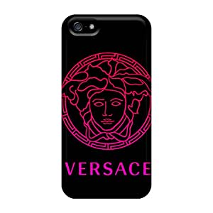 Flexible Tpu Back Case Cover For Iphone 5/5s - Versace Gradient