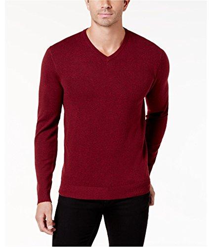 Alfani Mens Knit Pullover Sweater, Red, - Red Alfani Sweater
