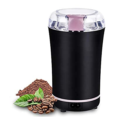 EForces Electric Coffee and Spice Grinder with Stainless Steel Blades, 400W Strong Motor, 1.7oz for Fast and Efficient Grinding