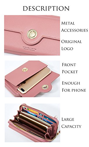 With Holder Pocket Case Wallet 98436 Bags Leather Card Body Cross Shoulder grey For Front Phone Girl Zipper Ladies Clutch Women Handbags Bags Tassel Strap 8U1wZ