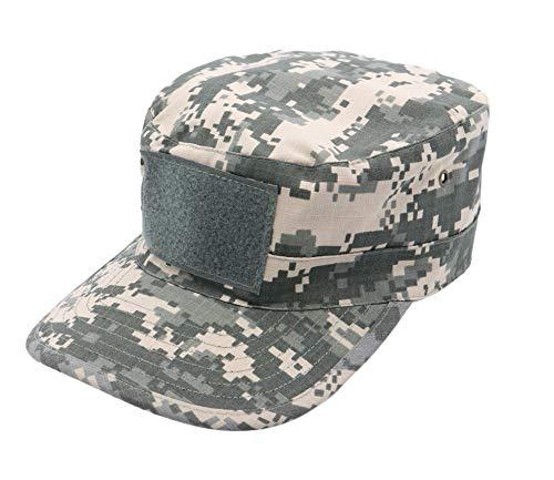 Kids Cadet Military Adjustable Cap - Army Camo Flattop Hat - Boys Girls Children -